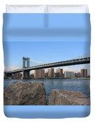 New York's Manhattan Bridge Duvet Cover