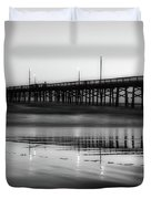 Newport Beach Pier At Sunrise Duvet Cover