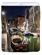 Night Canal Duvet Cover