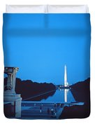 Night View Of The Washington Monument Across The National Mall Duvet Cover