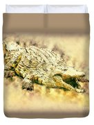 Nile River Crocodile Duvet Cover