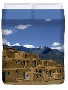 North Pueblo Taos Duvet Cover by Kurt Van Wagner