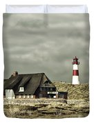 North Sea Lighthouse - Germany Duvet Cover
