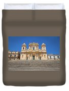 Noto, Sicily, Italy - San Nicolo Cathedral, Unesco Heritage Site Duvet Cover