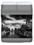Notre Dame Cathedral And The River Seine - Paris Duvet Cover