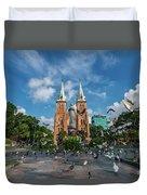 Notre-dame Cathedral Basilica Of Saigon, Officially Cathedral Basilica Of Our Lady Of The Immaculate Duvet Cover