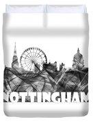 Nottingham England Skyline Duvet Cover