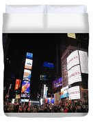 Nyc Times Square Duvet Cover