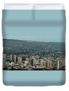 Oakland California Skyline Duvet Cover