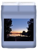 Obear Park And The Danvers River At Sunset Duvet Cover