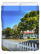 Ocracoke Lighthouse, Ocracoke Island, Nc Duvet Cover