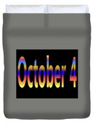 October 4 Duvet Cover