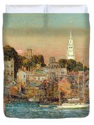 October Sundown Duvet Cover by Childe Hassam