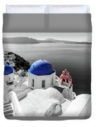 Oia, Santorini / Greece Duvet Cover
