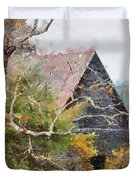 Old Barn At Cades Cove Duvet Cover