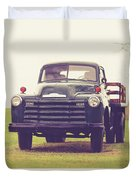 Old Chevy Farm Truck In Vermont Square Duvet Cover