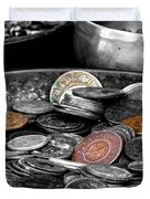 Old Coins Duvet Cover