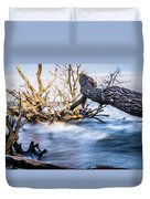 Old Dead Trees On Shores Of Edisto Beach Coast Near Botany Bay P Duvet Cover
