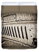 Old Dodge Grille Duvet Cover