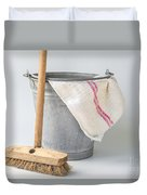 Old Fashioned Housekeeping With Zinc Bucket Duvet Cover
