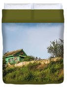 Old Fisherman's House On The Hill Duvet Cover