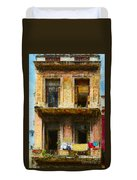 Old Havana Building Duvet Cover