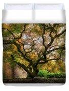 Old Japanese Maple Tree Duvet Cover