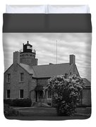 Old Mackinac Point Lighthouse Duvet Cover