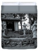 Old Shrine Duvet Cover