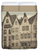 Old Town Of Cologne Duvet Cover