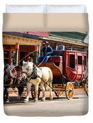 Old Tucson Stagecoach Duvet Cover