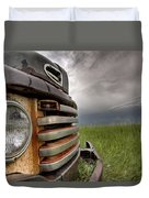 Old Vintage Truck On The Prairie Duvet Cover