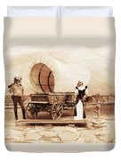 Old West Cats  Duvet Cover