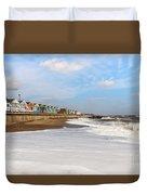 On A Beach Duvet Cover