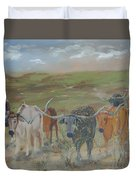 On The Chisholm Trail Duvet Cover
