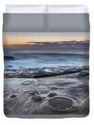 On The Ledge - Sunrise Seascape Duvet Cover