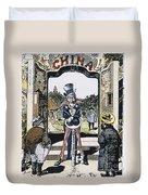 Open Door Cartoon, 1900 Duvet Cover
