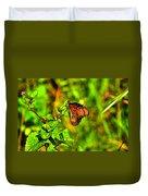 Orange Butterfly Too Duvet Cover
