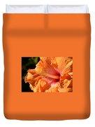orange Hibiscus blossom Duvet Cover