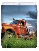 Orange Truck Duvet Cover