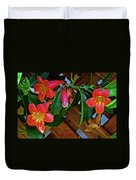 Orange Trumpet Vine At Pilgrim Place In Claremont-california   Duvet Cover