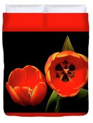 Orange Tulip Macro Duvet Cover