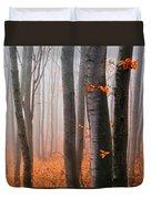 Orange Wood Duvet Cover by Evgeni Dinev