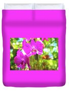 Orchid Oil Painting Duvet Cover