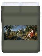 Orpheus And Animals Duvet Cover