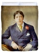 Oscar Wilde, Literary Legend Duvet Cover