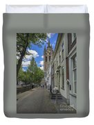 Oude Kerk In Delft Duvet Cover