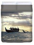 Outrigger Canoe Duvet Cover
