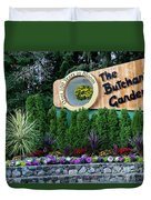 Over 100 Yrs In Bloom, Historic Garden Icon, The Butchart Gardens. Duvet Cover