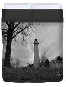 Overcast Lighthouse Duvet Cover